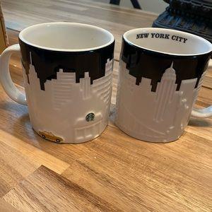 Starbucks 2012 collectible mug New York skyline